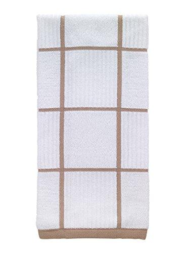 T-fal Textiles 10159 100-Percent Cotton Checked Parquet Kitchen Dish Towel, Sand, Single