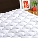 "TEXARTIST Mattress Pad Cover Queen, Cooling Mattress Topper, 400 TC Cotton Pillow Top with 8-21"" Deep Pocket"