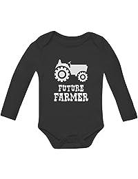 Future Farmer - Cute Baby Grow Vest Farmers Babies Gift Baby Long Sleeve Onesie