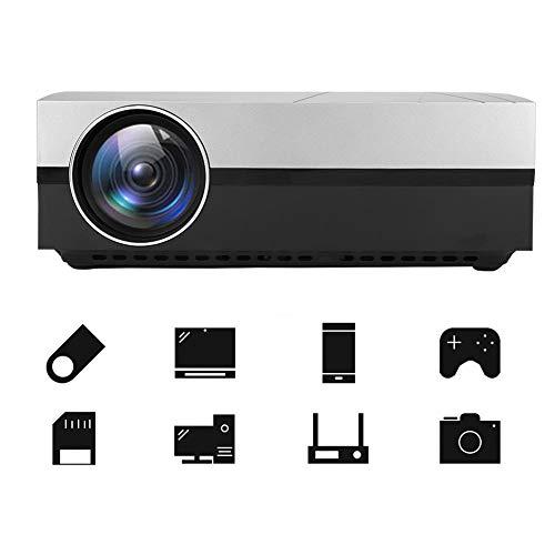 Mugast HD LED Video Projector, 3800 Lumens Mini Projector 50,000 Hours Lamp Life LED Video Projector Support 1080P Compatible with USB/HD/SD/AV/VGA for Home Theater(US Plug) from Mugast