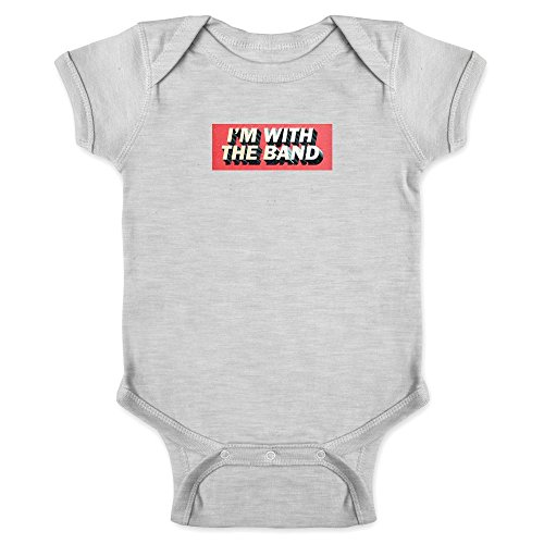 Pop Threads I'm with The Band Gray 6M Infant Bodysuit