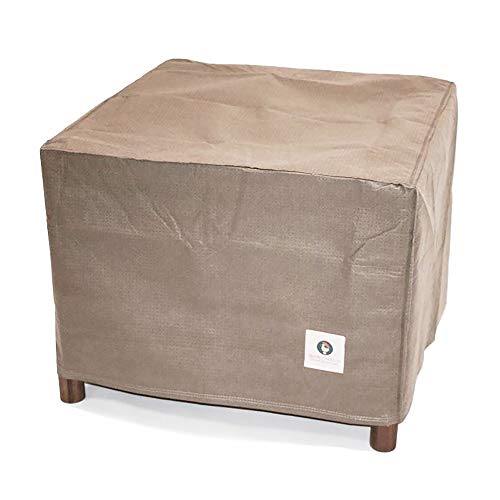 (Duck Covers Elite Square Patio Ottoman or Side Table Cover, 26-Inch)