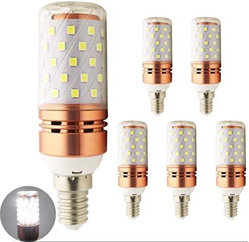 E14 LEDCorn Bulb Lamp 24V 36V 48V DC WarmKoud Wit 10W 2835SMD 60LED DC 2460V for RV Camper Marine Solar Power Licht en Off Grid 5Pack WELSUN ColorCool white