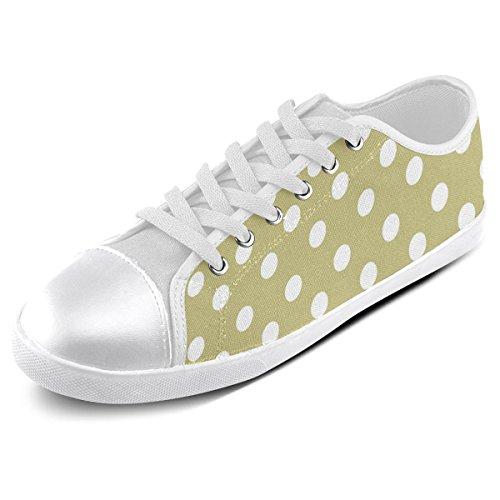 Artsadd Custom Olive Polka Dots Canvas Shoes For Men (Model016)