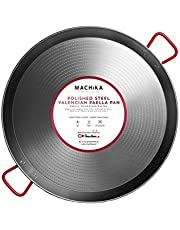 Machika Polished Steel Paella Pan 15 inch (38 cm)