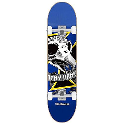 BIRDHOUSE Skateboard Complete TONY HAWK OVERSIZED SKULL MINI 7.38″