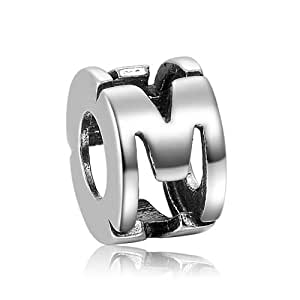 Fall New Arrival Alphabet M Charm 925 Sterling Silver SOUFEEL Compatible Fashionable Jewellery