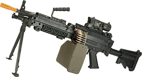 (Evike - G&P M249 Saw Airsoft AEG Rifle with Collapsible Stock (Package: MK46 Version/Gun Only))
