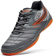Jazba LIZARDO 1X Indoor Court Shoes for Men, Non Marking Non-Skid Grip Rubber Sole, Squash Badminton Table Ten