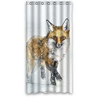 "Amazon.com: 36""(Width)x 72""(Height) Cheap Fox in Snow"