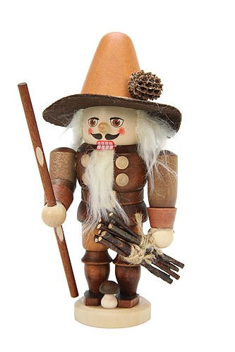 German Christmas Nutcracker Forest Man natural colors - 17,0 cm / 7 inches - Christian Ulbricht