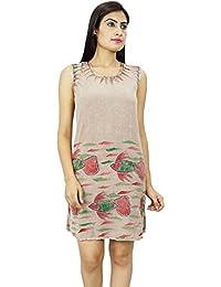 Sleeveless Rayon Women Casual Dress Kurti Boho Hippie Clothing Summer Wear