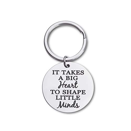Graduation Gifts 2019 for Teachers Mothers Fathers Day Appreciation Keychain Thank You Birthday Gifts for Mom Dad Teachers Coaches Women It Takes A Big Heart to Help Shape Little Minds Key Ring