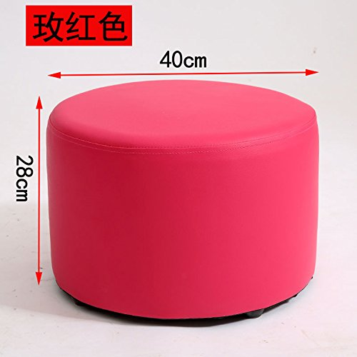 STJK$BMJW Stools Household Shoes Changing Stools Living Room Sofa Stools Tea Tables Wooden Stools Children's Stools Rosa 4028Cm