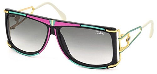 Cazal 866 Sunglasses 644SG Pink/Green/Black-Gold Gradient Grey Lens 61 - For Men Cazal