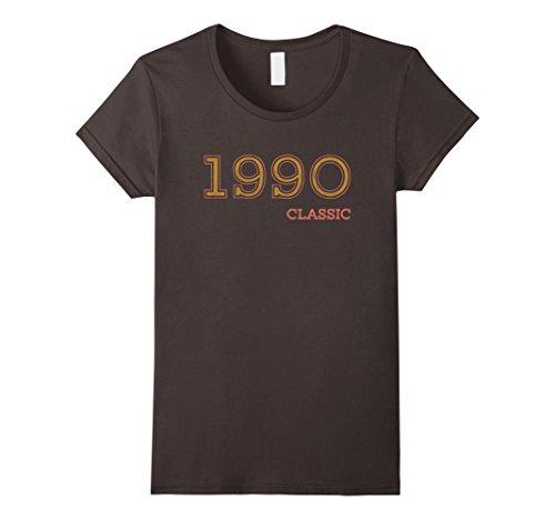 1990's Halloween Costume Idea (Womens 27th Birthday Funny Tshirt, Vintage 1990 Shirt, Gift Idea Small Asphalt)