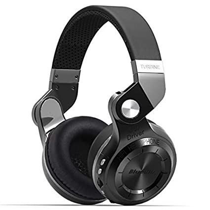 Bluedio T2 Plus Turbine Wireless Bluetooth Headphones  Black  Over Ear