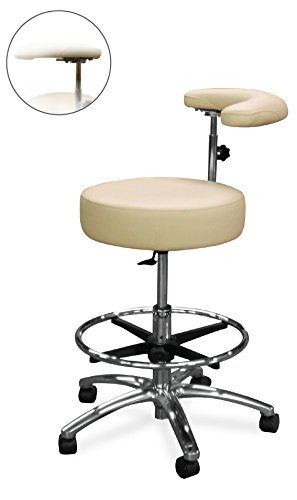 Adj Stool - Dentists Unite 513-201 Dental Assistant Stool, Adj Footing, Ratchet Arm, Atlantis