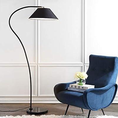 "Safavieh""""Lighting Collection Lumi Arc 69"" Floor Lamp, Black"