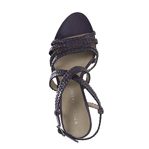 Bruno PREMI Mujer sandaletten intereccio Jeans 10cm Azul - azul