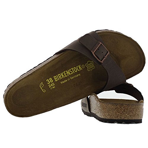 Birkenstock Madrid Brown Womens Sandals Mocca - Birko-Flor Nubuck eznQM1N