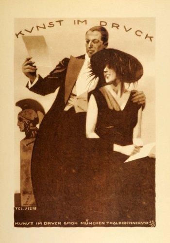 1926-photogravure-ludwig-hohlwein-kunst-im-druck-munich-german-poster-art-ad-original-photogravure