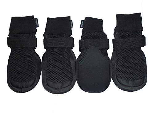 LONSUNEER Paw Protector Dog Boots Breathable Nonslip and Soft Black Color Size M L XL (X-Large - Inner Sole Width 3.15