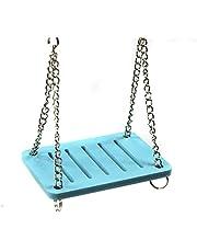 TOOGOO Hamster Jouets Balancoire Suspendue Gadget En Bois Cage Accessoires Fournitures Amuse Souris bleu