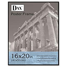 Dax - 2 Pack - Coloredge Poster Frame Clear Plastic Window 16 X 20 Black \