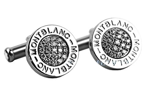 MONTBLANC PRECIOUS COLLECTION PAVED DIAMONDS CUFFLINKS NEW BOX GERMANY 38205 SS (Cufflink Boxes)
