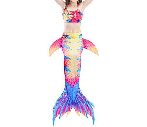 3Pcs/Set Mermaid Tail Swimsuit Swimwear Bathing Suit CCostume Bikini Set,Style 10,6T Tail Costume -