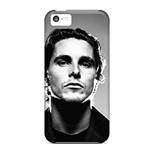 Anti-scratch And Shatterproof Christian Bale Phone Case For Iphone 5c/ High Quality Tpu Case
