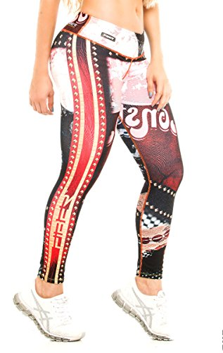 Fiber Harley Quinn Superhero Leggings Yoga Pants Women's Compression (Captain America Girl Costume With Pants)