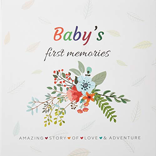 FABANA Baby Memory Book First 5 Years Modern Baby Shower Gift Boys Girls Unisex Photo Album 4X6 Floral