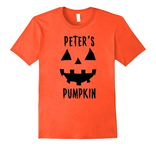 Mens Couples Halloween Costume Ideas Peter's Pumpkin T-Shirt Large (Costume Ideas For Halloween Couples)
