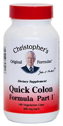 Dr. Christopher's - Quick Colon Part 1 - 100 Vegetarian Capsules (485 mg each)