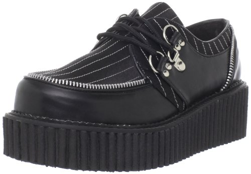 Creeper 113 Uk pinstripes 5 eu Blk Leather 38 Vegan Demonia aRxnOwSqw