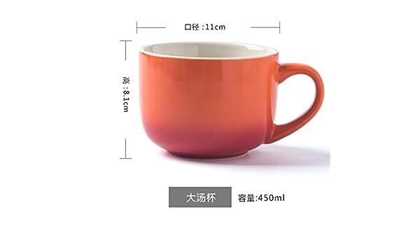 Gran Capacidad de Vaso de cerámica Taza, Taza de Leche, Avena, Yogur Taza, Taza Desayuno,Uno: Amazon.es: Hogar