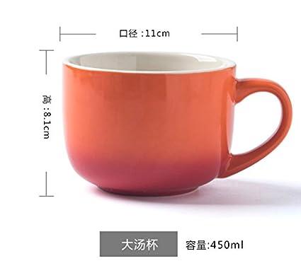 Gran Capacidad de Vaso de cerámica Taza, Taza de Leche, Avena, Yogur Taza