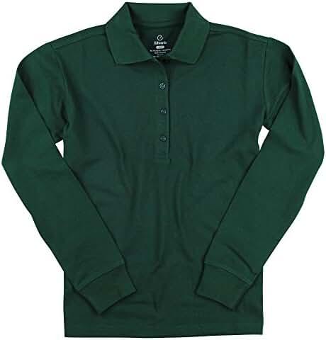 Women's Long Sleeve Poly/Cotton Pique Polo Shirt