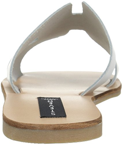 STEVEN by Steve Madden Women's Greece Flat Sandal White Leather get to buy online 6Q5Tj