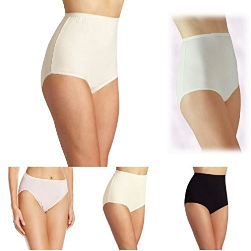 Vanity Fair Women's Comfort +Perfectly Yours Tailored Cotton Brief Panty 15318