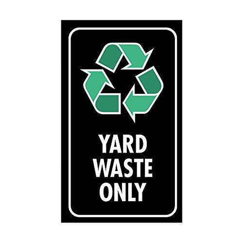 CafePress Yard Waste Only Sticker (Black W/Symbol) Rectangle Bumper Sticker Car Decal