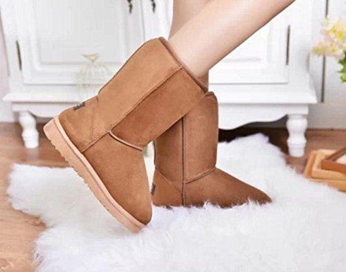botas caliente y la algodón de en para clásicas mujeres pieles botas El el 60cm espesar NSXZ botas 76 las tubo nuevo algodón nieve de H8qYxUw