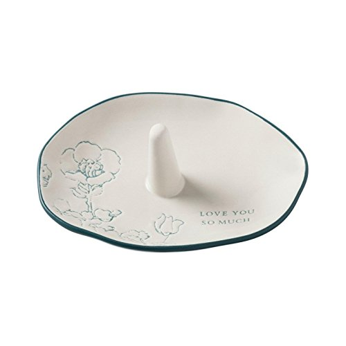 Hearth and Hand Magnolia Ring Tray Stoneware Cream Love Mother Day Collection by Hearth & Hand Magnolia