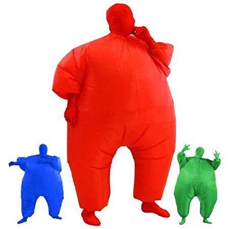 AirSuits Inflatable Fat Chub Suit Second Skin Fancy Dress Party Costume - BLUE AS2247