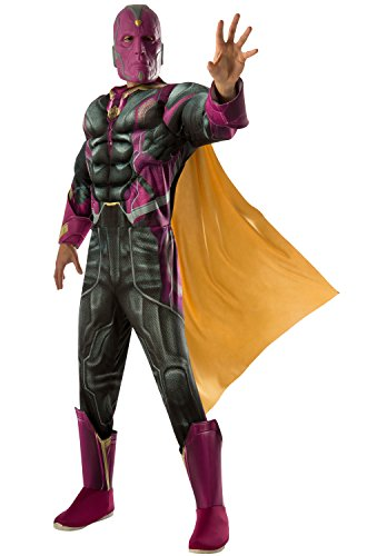 Rubie's Costume Co Men's Avengers 2 Age Of Ultron Deluxe Adult Vision Costume, Multi, (Comic Book Character Costumes Male)
