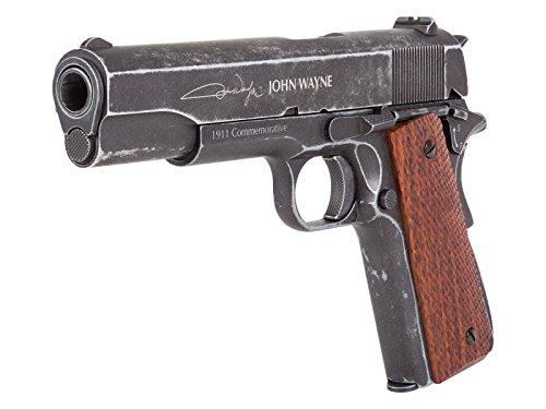 John Wayne 1911 Metal CO2 BB Pistol, Brown Grips air pistol by Air Venturi