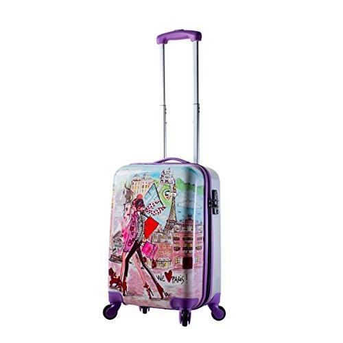 Mia Toro Izak-Paris Fashion Hard-side Spinner Luggage 3PC/Set with 10-Year Warranty--BEST GIFT for Christmas!!!!! by Mia Toro (Image #2)