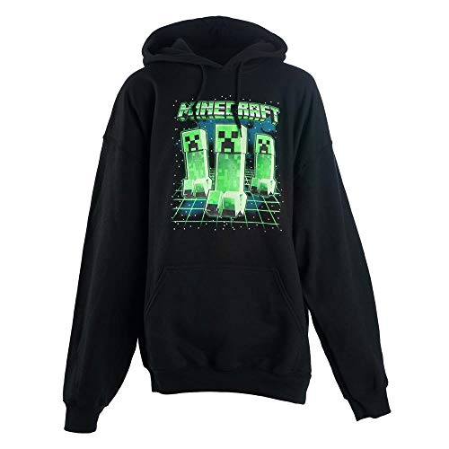 Minecraft Creeper Hoodies (Minecraft Boys Glow Creeper Pullover Hoodie (Large))